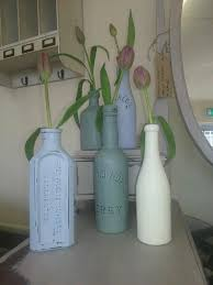 Decorative Colored Glass Bottles Home Decor DIY Idea Painted Glass Jars And Bottles To Use As 37