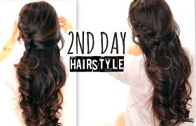 Second Day Curly Hairstyles Cute 2nd Day Hair Crossover Braids Hairstyles Tutorial