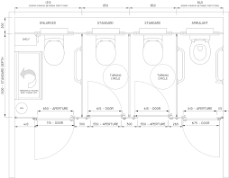 model standard cubicle toilet sizes