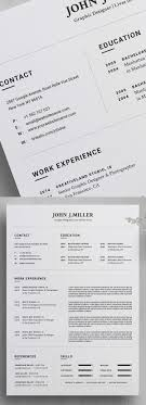 25 Fresh Free Professional Resume Templates Freebies Graphic
