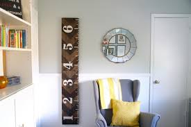 Giant Measuring Stick Growth Chart Diy Wooden Growth Chart That Looks Like A Ruler Love