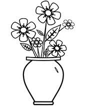Print the coloring objects for kids to learn & color. Flowers Coloring Pages Sheets Topcoloringpages Net