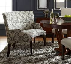 dining room table with upholstered bench. Perfect Upholstered Dining Bench Furniture: Beautiful Round Table And Motive Room With