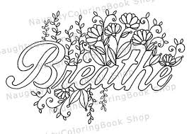 Small Picture Breathe Printable Gift Coloring Page Yoga Gifts Positive