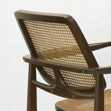 contemporary armchair solid wood wooden oscar by sergio rodrigues triode design