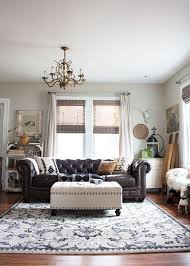 Leather Chesterfield Sofa By Raymour And Flanigan. Rug From HomeGoods.  Thoughts From Alice: Living Room Redo With A New Leather Sofa