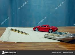 Car Expenses Calculate With Notes And Toy Car Stock
