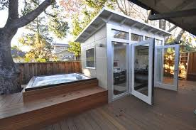 studio shed cost. Fine Shed Jeremy HorganKobelskiStudio Shed The Shed That Jennifer And Eric Antonow  Built Near Their Backyard Hot Tub Provides Some Extra Living Space In Palo Alto  Intended Studio Cost