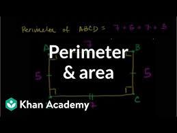 Perimeter Area Video Area Khan Academy