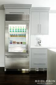 inspired gl door refrigerator vogue new york contemporary kitchen