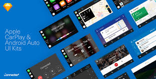 Sketch For Android Ui Design Android Auto Apple Carplay Ui Kits For Sketch Free