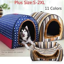<b>Winter Puppy Dogs Cats</b> House Collapsible Warm Soft Pet Bed ...
