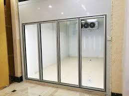 transpa glass door cold freezer room for vegetable and fruit food storage