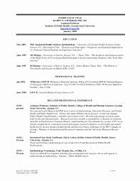 Sample Resume For Assistant Professor Position New Resume For