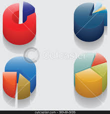 Pie Chart Without Numbers Set Of 3d Pie Charts Business Items Without Numbers Stock