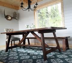 lake cabin furniture. X Truss Table For Alaska Lake Cabin Diy Projects On Husky Farmhouse Furniture