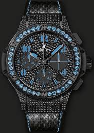 17 best ideas about diamond watches for men rolex hublot men s big bang black fluo chronograph adorned 430 black diamonds 2 3 carats