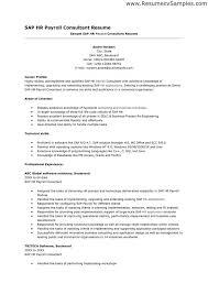 Sap Hr Resume Sample Zromtk New Payroll Resume