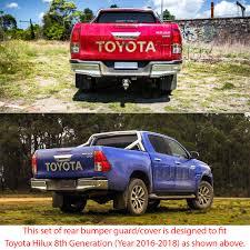 Rear Bumper Guard Cover Cladding ABS For Toyota Hilux GUN1 AN120 ...