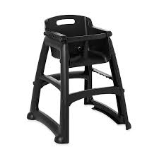 com rubbermaid commercial sy chair youth seat high chair with wheels black fg780508bla scientific