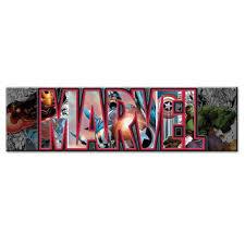 silver buffalo av2891 marvel canvas wall art avengers letters 3 on marvel spiderman canvas wall art 4 piece with best marvel wall art products on wanelo