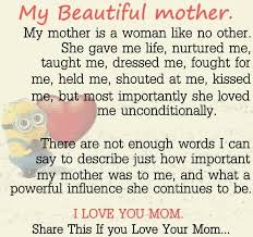 My Beautiful Mother Quotes Best of My Beautiful Mother Minion Quotes About Family And Friends