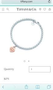 details about return to tiffany co silver bead ball bracelet rubedo mini heart tag