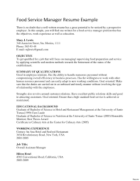 Fast Food Resume Sample Customer success manager resume best of fast food manager resume 13