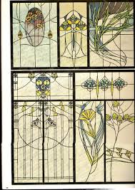 Authentic Art Nouveau Stained Glass Designs In Full Color Authentic Art Nouveau Stained Glass Designs In Full Color