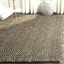 jute chevron rug chevron jute rug valuable jute rug casual natural fiber hand woven black 4
