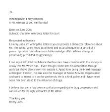 Character Letter For Court Template Judge Best Ideas Of How