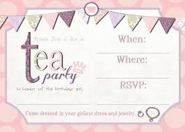 printable party invitations invitations for a princess printable tea party invitation template