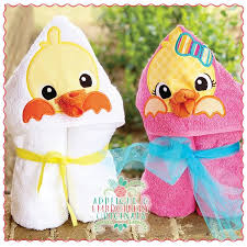1639 Duck Set Hooded Towel Design | Machine embroidery ...