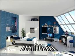 Kids Bedroom Colour Schemes Blue And White Painted For Teenage Boys