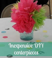 tissue paper flower centerpiece ideas cheap diy party centerpieces tissue paper flowers tissue paper