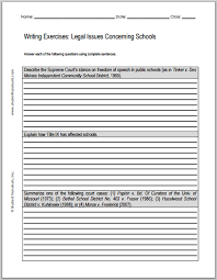 legal issues concerning schools essay questions student handouts