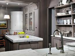 image of kitchen with gray cabinets