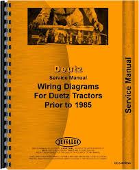 service manual for deutz (allis) d7807 tractor wiring diagram deutz alternator wiring diagram at Deutz Wiring Diagram