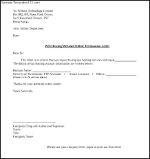 termination letter template employee termination letter template service samples employment