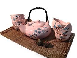 "<b>Чайный набор</b> ""<b>Ветка</b> сакуры"" розовый (чайник 0,5L + 6 пиал ..."