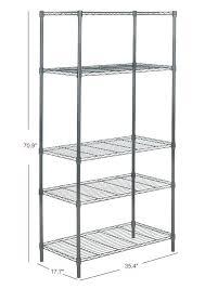 5 tier shelving unit 5 tier chrome wire shelving unit 5 tier plastic freestanding shelving unit