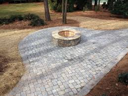 paver patio. Brilliant Paver Paver Patio And Walkway W Firepit Throughout A