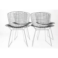 set of 4 wire chair by harry bertoia knoll international 1970s design market