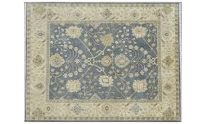 picture of hand knotted multicolored indian oushak 9x12 rug