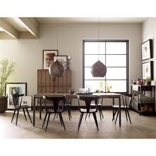 modern black dining room tables. Tenly Mid Century Modern Black Oak Barrel Back Dining Chair - PAIR   Kathy Kuo Home Room Tables
