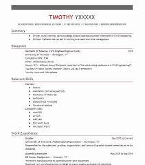 Grader Resume Example University Of Vermont Mathematics Department Simple Resume Grader
