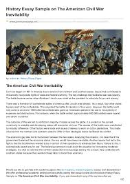 premiumessays net history essay sample on the american civil war inev history essay sample on the american civil war inevitability premiumessays net articles
