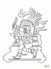 Small Picture Aztec Sun Stone Coloring Page Free Printable Coloring Pages