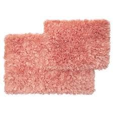 vista home fashions soho collection solid paper bath rug set 21x34 17x24