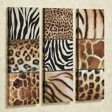 Display the beauty of the wild animal kingdom with the Exotic Patterns Canvas  Wall Art Set. These giclees on canvas feature animal print motifs: leopard,.